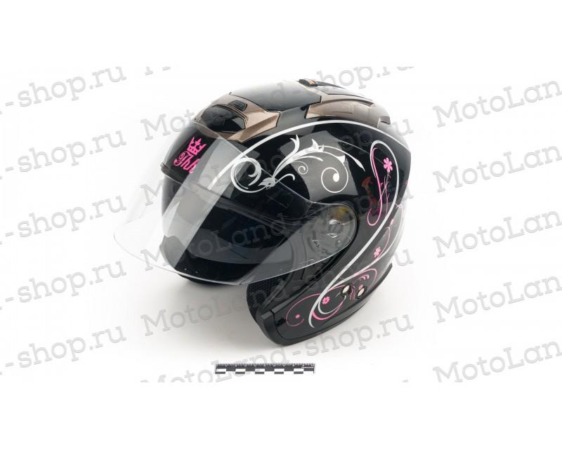 """Шлем """"THH"""" T-386#1 BLK/PINK"""